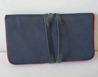 YSL Black / Red Tri-Fold Makeup Bag With Mirror, Brand NEW! 100% Genuine!! • 11.52£