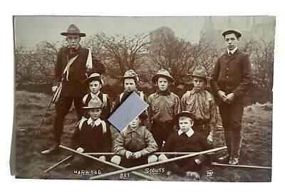 £20 • Buy A Rare Bolton Postcard-Early Scouting In Bolton Rare Harwood Boy Scouts C1908