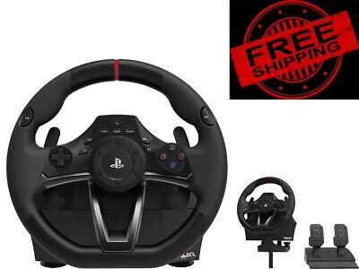 4PS4,PS3 Steering Wheel And Pedal Set Racing Gaming Simulator Driving PC Real UK • 115.99£
