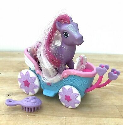 My Little Pony G3 Pretty Parasol Carriage Figure Doll Toy Hasbro 2006 • 6£