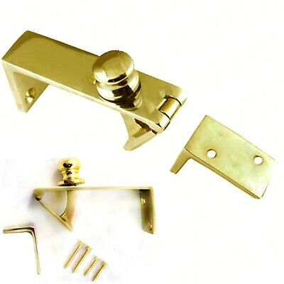 QUALITY SOLID BRASS COUNTER FLAP CATCH With SCREWS Bar Shop Holder Latch Lift Up • 13.19£