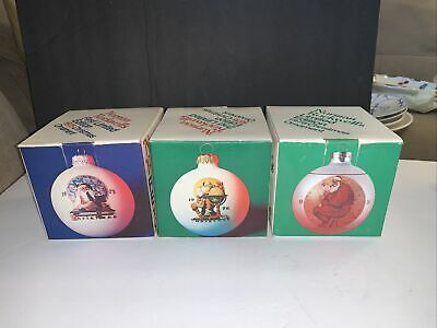 $ CDN32.73 • Buy Lot Of 3 Norman Rockwell Vintage 1970s Limited Edition Christmas Ornaments