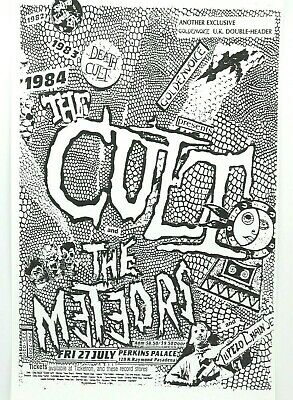 $14.95 • Buy The Cult The Meteors Punk Rock Concert Poster, Perkins Palace In Pasadena