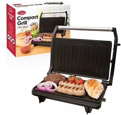 Quest 34340 Compact Twin Panini Press And Grill Floating Hinge, Stainless Steel, • 24.99£