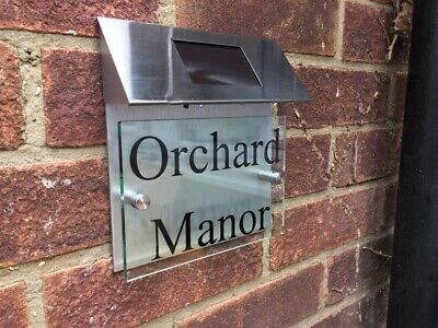 £34.99 • Buy Classic Solar House Sign Plaques Door Numbers 1 - 999 Personalised Name Plate