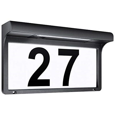 LeiDrail Solar House Number Plaques Illuminated Door Numbers Signs Modern Custom • 37.72£