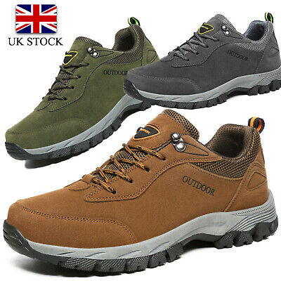 Mens Hiking Boots New Walking Ankle Wide Fit Trail Trekking Trainers Shoes Size • 22.99£