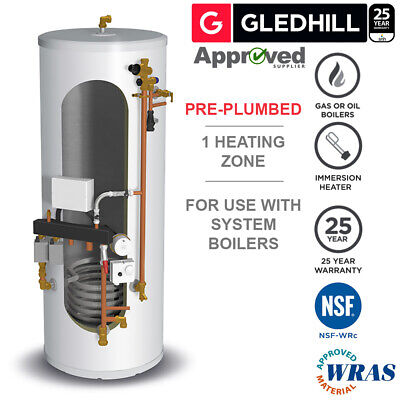 £858 • Buy Gledhill Stainless Lite Pre-Plumbed IND210 Unvented Cylinder System Ready
