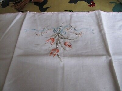VINTAGE Embroidered Pillow Case, Housewife Style  • 9.99£