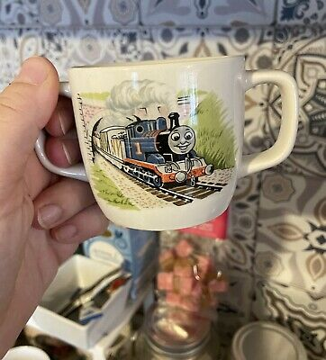 1984 Wedgewood Thomas The Tank Engine Childrens Mug / Sippy Cup - Double Handles • 9.50£