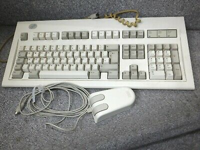 Vintage IBM PS/2 QWERTY English PC Keyboard Model 71G4643 With Mouse • 119.99£