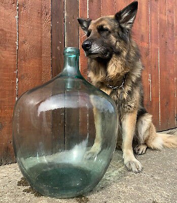 Vintage Antique HUGE Glass Jar Bottle Carboy Demijohn Terrarium Money Bottle • 75£