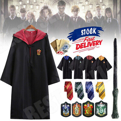 $ CDN16.74 • Buy Harry Potter Costume Adult Gryffindor Ravenclaw Slytherin Hufflepuff Robe Cloak