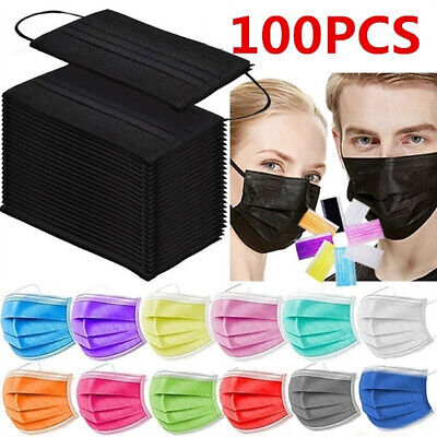 AU33.84 • Buy 10-100PCS Masks Surgical 3Layer Anti-Dust Disposable Face Mask Respiratory