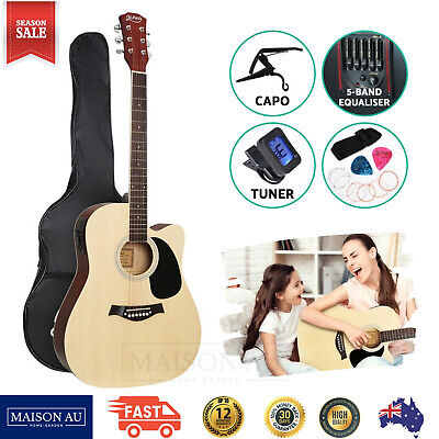 AU91.08 • Buy 41  Inch Electric Acoustic Guitar Wooden Classical EQ With Pickup Bass Natural