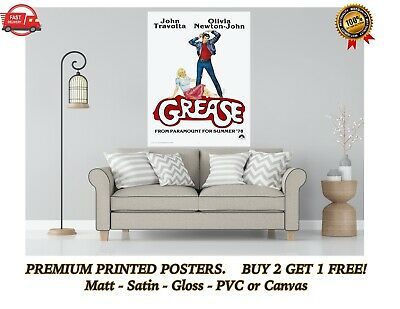 £3.60 • Buy Grease Vintage Classic Movie Large Poster Art Print Gift A0 A1 A2 A3 A4 Maxi