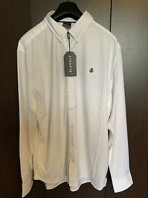 Blakely Original White Anchor Logo Mens Shirt Large • 15£