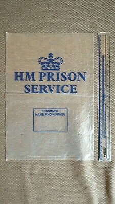 Hmp Prison Service Jail Bags - Plastic Unused Condition - Movie Prop • 4.99£