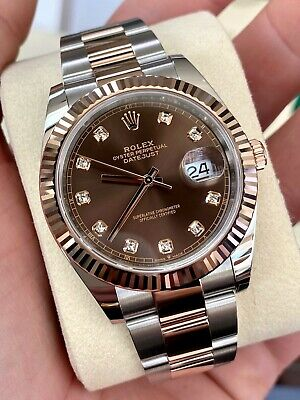 $ CDN19867.26 • Buy 2020 Rolex Datejust 126331 Chocolate Diamond Dial 41mm SS & Rose W/ Box & Papers