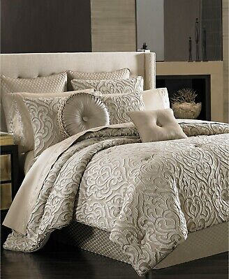 $ CDN355.22 • Buy J. Queen New York Astoria Scroll 4-PC KING Comforter & Shams Set Sand $500 New