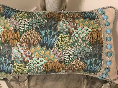 Art Of The Loom Peacock Print Cushion Cover With Osborne&Little Trim • 15.95£
