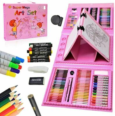 £15.75 • Buy 208 Pcs Art Set Childrens/Kids Colouring Drawing Painting Arts & Crafts Case