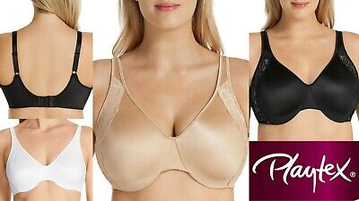AU32.95 • Buy Playtex Smoothing Minimising Bras Side Support Wire 12 14 16 18 20 22 C D DD E F