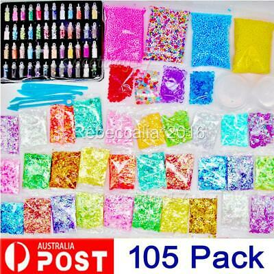 AU20.95 • Buy NEW 105PCS DIY Slime Making Supplies Tool Kit Beads Charms Kids Craft Toy AU