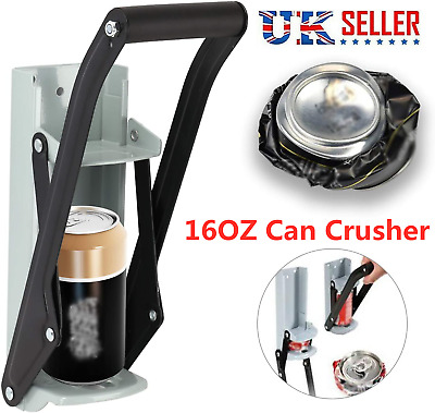 16oz Heavy Duty Beer Tin Can Crusher Wall Mounted Recycling Tool & Bottle Opener • 7.99£