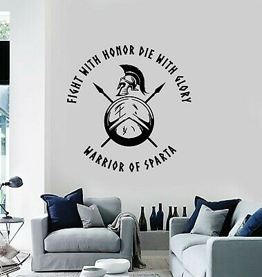 $29.99 • Buy Vinyl Wall Decal Ancient Spartan Soldier Warrior Military Fight Stickers (g3912)