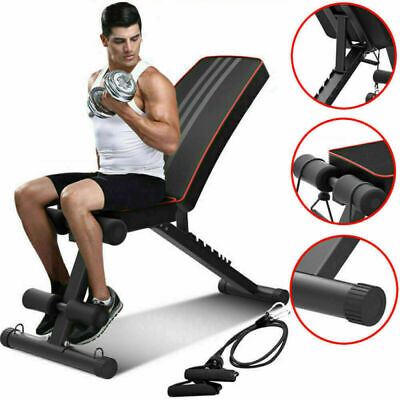 Weight Bench Multi Adjustable Gym Workout Exercise Flat Incline Decline Sit Up • 62.99£