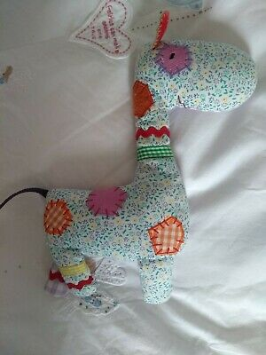 Mamas And Papas Made With Love Giraffe Toy Multicoloured Rattle • 0.99£