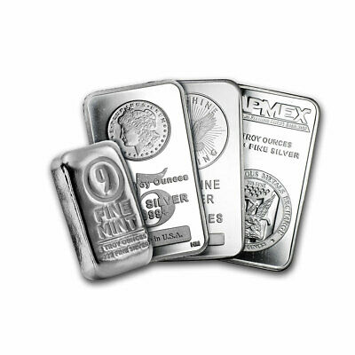 $ CDN177.84 • Buy 5 Oz Silver Bar - Secondary Market Brand Varies .999 Fine Silver