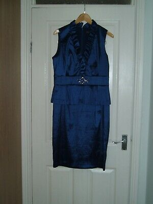 Ladies Size 16 Midnight Blue Cocktail/evening/party Dress • 2.99£