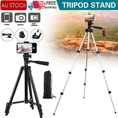 AU18.39 • Buy Professional Camera Tripod Stand Mount Remote + Phone Holder For IPhone Samsung