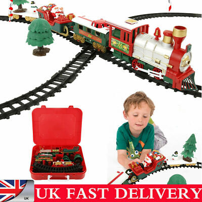 CHRISTMAS EXPRESS Holiday Festive Train Set Toys Track Light & Sound Xmas Gift • 13.69£