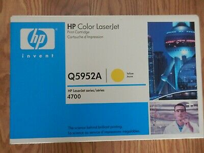 HP Genuine Q5952A Yellow Toner Cartridge LaserJet 4700 Sealed New • 40£
