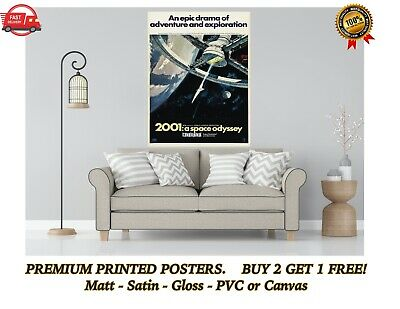£3.50 • Buy 2001 A Space Odyssey Classic Movie Large Poster Art Print Gift A0 A1 A2 A3 A4