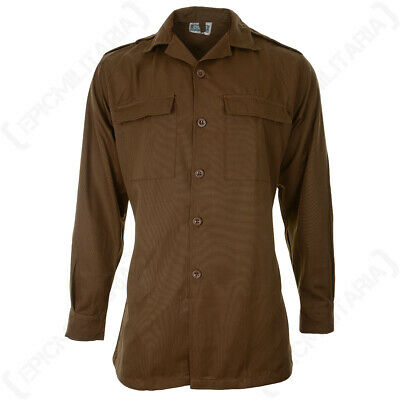 £34.95 • Buy Original Shirt South African Long Sleeve Nutria Brown Army Military - All Sizes