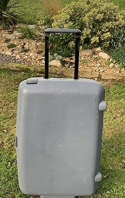 SAMSONITE LARGE HARD SHELL SUITCASE With Combination Lock & Key - In Grey • 12£
