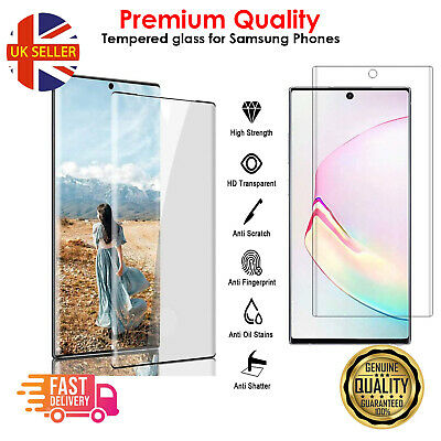 For Samsung Galaxy S10 S20 S9 S8 Plus Tempered Glass Screen Protector Film Curve • 3.49£