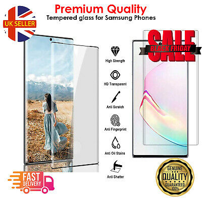 $ CDN5.14 • Buy For Samsung Galaxy S10 S21 S9 S8 Plus Tempered Glass Screen Protector Film Curve