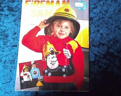 Fireman Sam 3 Childs Sweater Knitting Patterns Sirdar DK 22-28  Chest • 0.75£