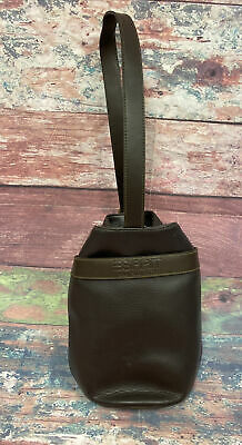 AU45.16 • Buy ESPRIT Brown Bucket Backpack Vintage 80s 90s Shoulder Bag