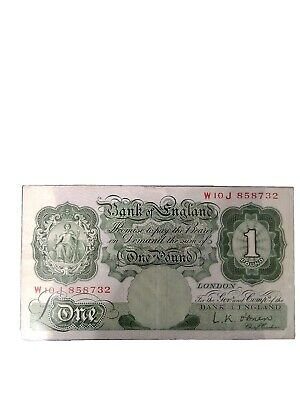OLD GREEN £1 ONE POUND NOTE Signed L.K O'Brien W10 J 858732 • 2.95£