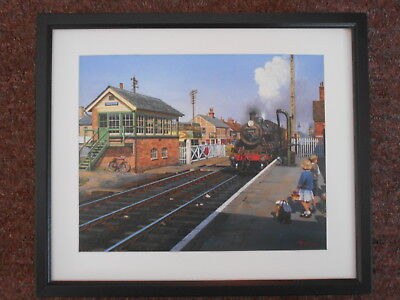 £27.50 • Buy Malcolm Root Steam Train Print 'Seaside Excursion' FRAMED