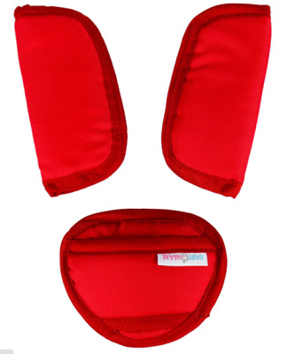 £3.99 • Buy 3 Piece Baby Stroller Car Seat Strap Covers & Crotch Pad Universal Red
