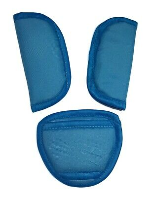 £3.99 • Buy Car Seat Strap Covers & Crotch Pad Universal 3 Piece Baby Stroller  Dark Blue