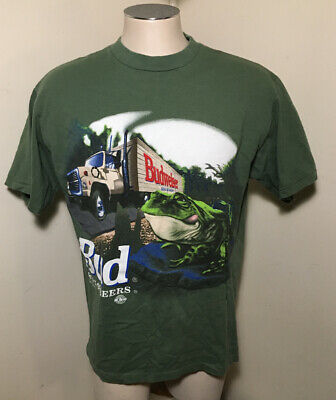 $ CDN57.42 • Buy Vtg 95 Bud King Of Beers Budweiser Frog This Buds For You Mens XL Changes TShirt