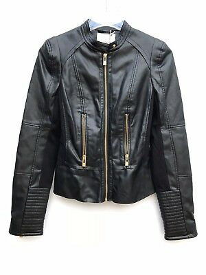 AU99.84 • Buy Pull And Bear Biker Jacket Faux Leather Size Small